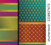 indian pattu sari vector... | Shutterstock .eps vector #1228827673