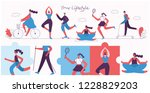 vector illustration of healthy... | Shutterstock .eps vector #1228829203