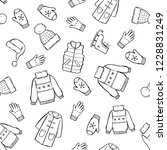 hand drawn seamless pattern of... | Shutterstock .eps vector #1228831249