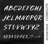 hand drawn font made by ink... | Shutterstock .eps vector #1228831270