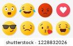 set of social media reactions   Shutterstock .eps vector #1228832026