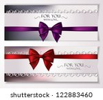 elegant vector holiday cards... | Shutterstock .eps vector #122883460