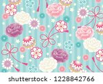 girly kimono pattern   Shutterstock .eps vector #1228842766