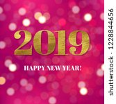 new year card with gradient... | Shutterstock .eps vector #1228844656