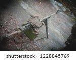 machine gun on military firing | Shutterstock . vector #1228845769