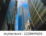 london skyscrapers on a summers ... | Shutterstock . vector #1228849603