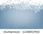 Winter Background With Fallin...