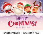 merry christmas  happy... | Shutterstock .eps vector #1228854769