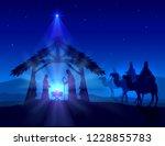 blue christian christmas... | Shutterstock .eps vector #1228855783
