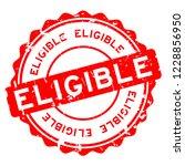 grunge red eligible word round... | Shutterstock .eps vector #1228856950