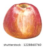 watercolor hand drawn red apple.... | Shutterstock . vector #1228860760