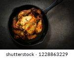 herb masala roasted cornish hen ... | Shutterstock . vector #1228863229