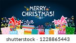 marry christmas  celebration... | Shutterstock . vector #1228865443