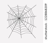spiders web icon line element.  ... | Shutterstock . vector #1228868209