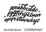 lettering font. handwritten... | Shutterstock .eps vector #1228869460