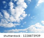 blue sky background white... | Shutterstock . vector #1228873939