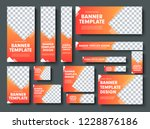 set of orange yellow vector web ... | Shutterstock .eps vector #1228876186