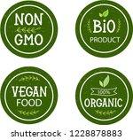 organic food  farm fresh  eco... | Shutterstock .eps vector #1228878883