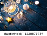 christmas lantern with... | Shutterstock . vector #1228879759