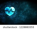 health concept  pixelated heart ... | Shutterstock . vector #1228883353