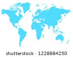 blue world map vector isolated... | Shutterstock .eps vector #1228884250