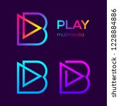 abstract letter b multimedia...   Shutterstock .eps vector #1228884886