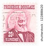 Small photo of USA - CIRCA 1967: A stamp printed in USA shows portrait of Frederick Douglass (1817-1895) was an American social reformer, circa 1967