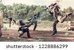 Dynamic paintball battle....