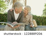 healthy beautiful senior... | Shutterstock . vector #1228889206