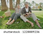 beautiful senior tourist couple ... | Shutterstock . vector #1228889236