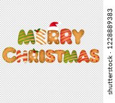 xmas gingerbread text... | Shutterstock .eps vector #1228889383