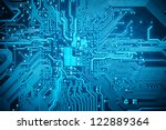 blue circuit board background... | Shutterstock . vector #122889364
