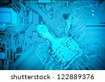 circuit board background of... | Shutterstock . vector #122889376