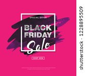 black friday sale banner with... | Shutterstock .eps vector #1228895509