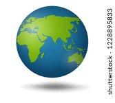 earth globe isolated on white... | Shutterstock .eps vector #1228895833
