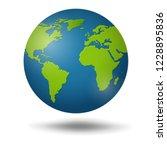 earth globe isolated on white... | Shutterstock .eps vector #1228895836