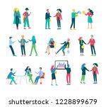 businessmen making handshake ... | Shutterstock .eps vector #1228899679