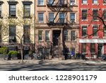 colorful old buildings on 10th... | Shutterstock . vector #1228901179