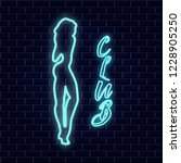neon sign which depicts a sexy...   Shutterstock .eps vector #1228905250