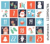 advent countdown calendar with... | Shutterstock .eps vector #1228906786