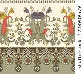 vintage vector floral border....   Shutterstock .eps vector #1228909579
