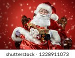 christmas and new year concept. ... | Shutterstock . vector #1228911073