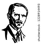 viktor kaplan  a hand drawn... | Shutterstock . vector #1228914493
