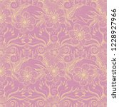 flower doodles seamless pattern.... | Shutterstock .eps vector #1228927966