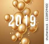 happy new year 2019 background... | Shutterstock .eps vector #1228929400