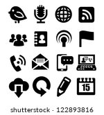 vector black communication... | Shutterstock .eps vector #122893816