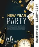 new year party poster or... | Shutterstock .eps vector #1228943359