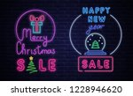 christmas and new year sale... | Shutterstock .eps vector #1228946620