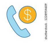 call charges color icon. pay... | Shutterstock .eps vector #1228954609