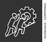 teamwork chalk icon. team.... | Shutterstock .eps vector #1228954663
